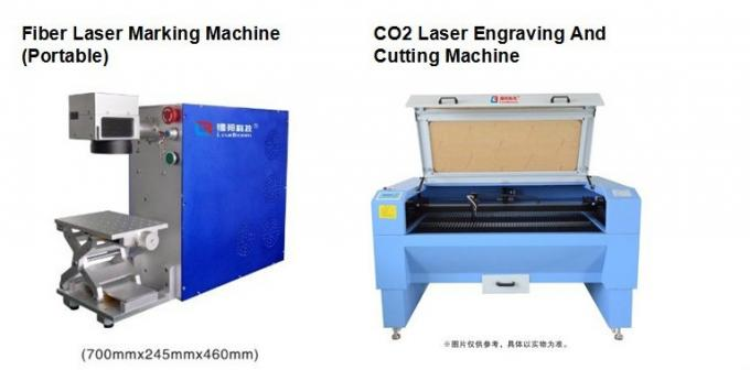 Uv Laser Marking Systems For Glass Bottle , Hand Held Wood Carving Machine