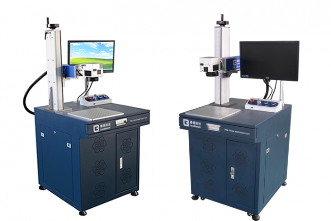 20w 30w 50w Mini Laser Marking Machine , Hardware Parts Metal Laser Marker