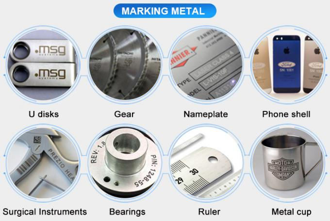 Silver / stainless Steel/ metal  Materials Fiber Laser Marking machine