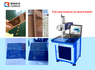 Co2 Laser Marking Machine. 30w Co2 laser marking on wood and lather and plastic