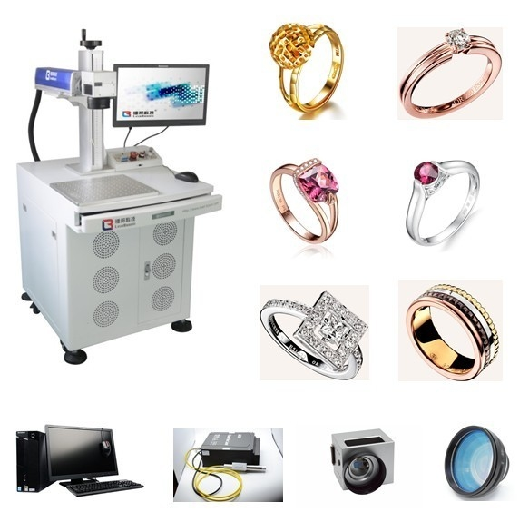 Sterling Silver Fiber Laser Engraving Machine 18K 24K Jewelry Gold For Metal