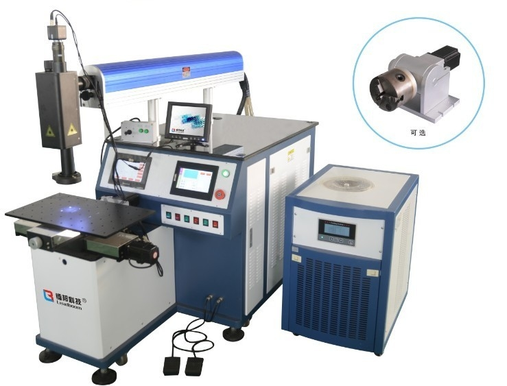 Laser Welding Systems For Keyhole 300W , Laser Cutting Cnc Machine Blue Color