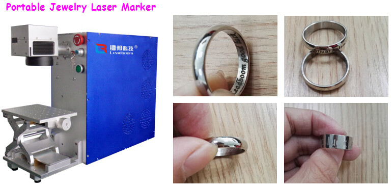 Small Volume Portable Laser Marking Machine For Ear Ring / Gold Bracelet Bangle