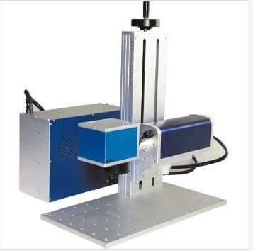 8000 mm / S Small Portable Laser Marking Machine For Stainless Steel Plate