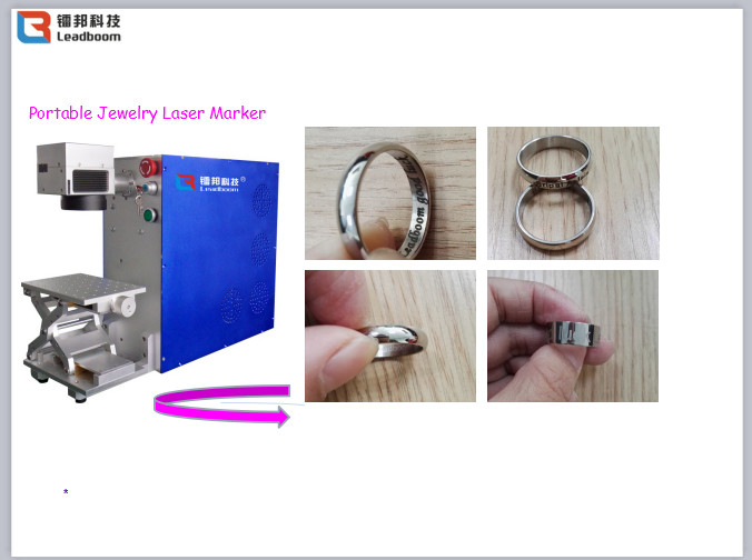 Portable Laser Marker / CO2 Laser Marker Machine Bar Code Laser Marking Systems