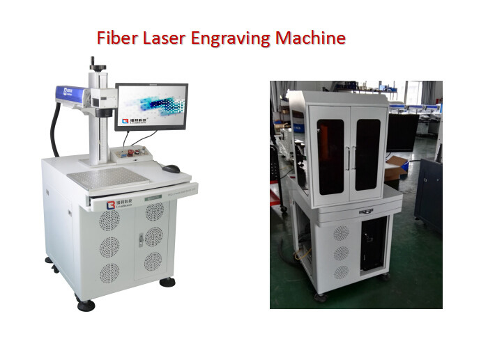 Electronic Bar Code Fiber Laser Engraving Machine with 0 - 0.5mm Marking Depth