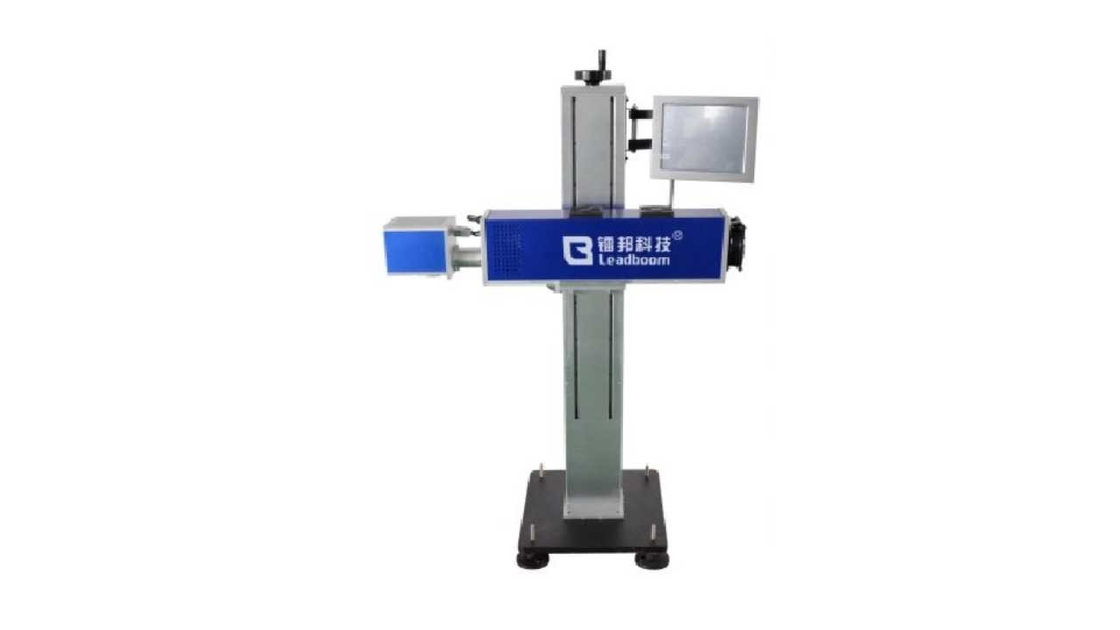 Full Automatically Portable Fiber Laser Marking Machine On Wood , Fruits Fast Speed