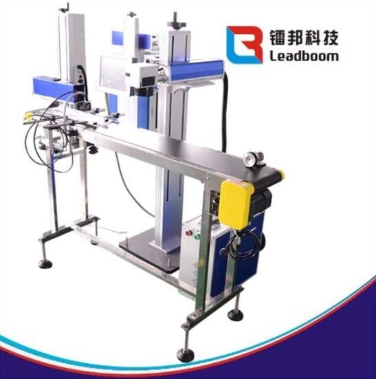 CO2 Laser Printing Machine For Beverage Package , Plastic