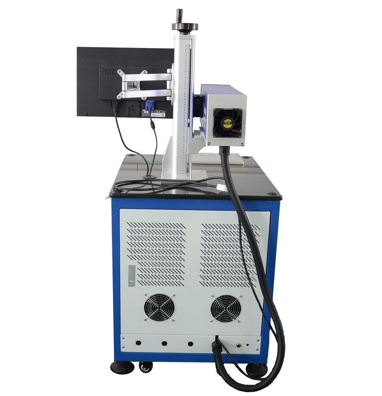 Blue AC220V 50HZ 10640 nm Laser Stripping Machine For Enameled Wire / Cable