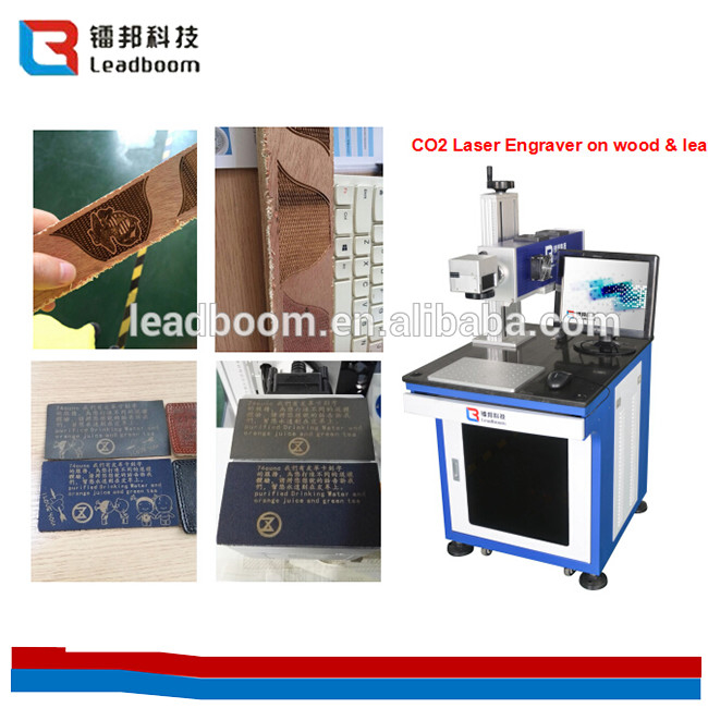 Laser Tube Co2 Laser Marking Machine 10W/30w For Leather  / Organic Glass/ paper