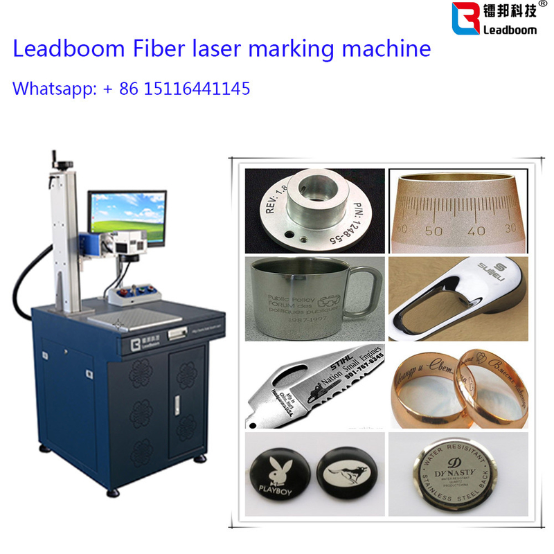 Gold Fiber Laser Marker / Laser Engrave machine with 30W Fiber Laser Cutting Machine