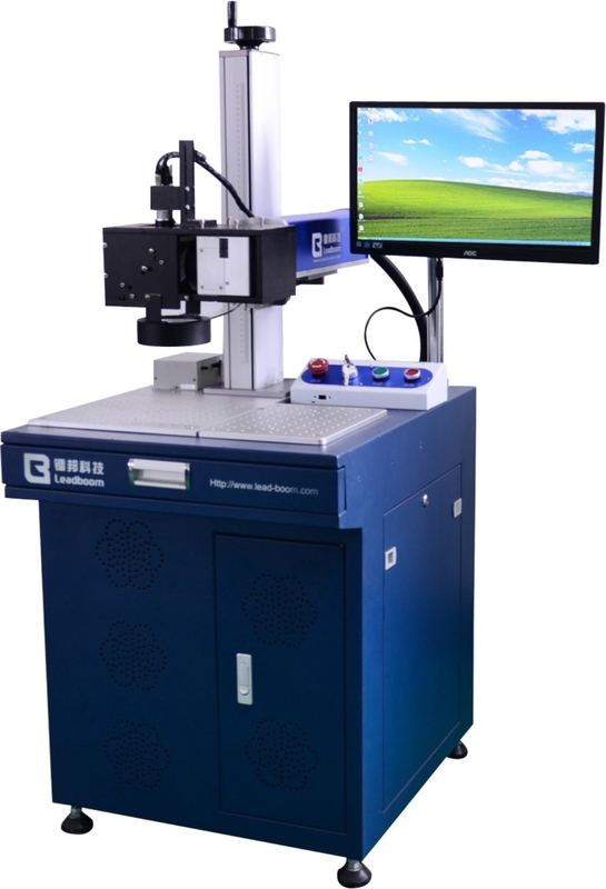 High Resolution Fiber Laser Engraving Machine With CCD Camera Positioning System