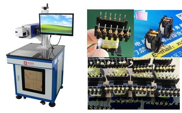 High Frequency Transformers Laser Peeling Machine / Laser Stripping Machine For Triple Insulated Wire