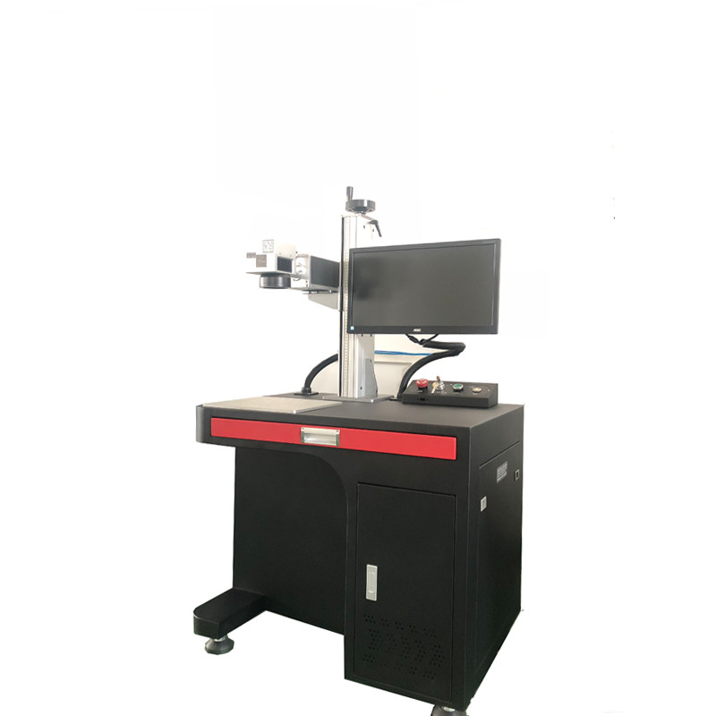 High Electrooptical Efficiency Fiber Laser Engraving Machine 20W With ROHS Standards
