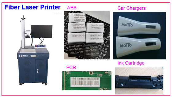 China PCB Board Laser Marking Machine 20W Laser Printing for Electronic Parts ABS factory