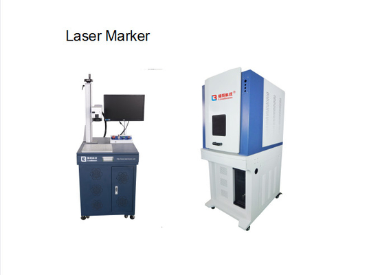 30W / 20W Fiber Laser Marking Machine Water Cooling For Mobile Phone Case