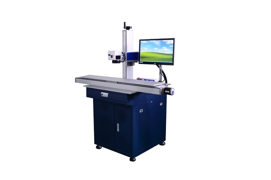 China USB Cable Fiber Laser Marking Machine , HDMI  PVC PE Cable Marking Machine factory