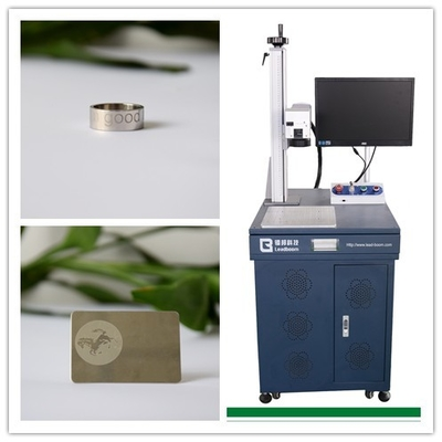 China NonMetal 20W Fiber Laser Marking Equipment For Plastic, ABS, PP, PU materials factory