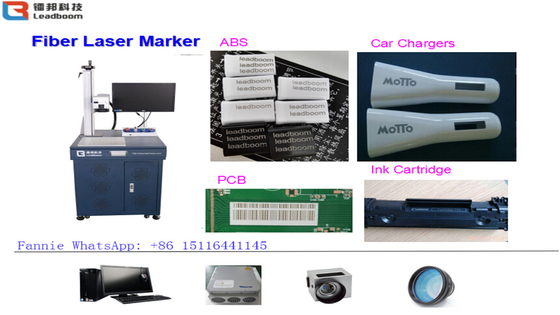 30W Air Cooling Fiber Laser Printing Machine For Glasses / Clocks / Watches