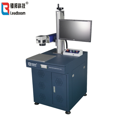 China CE Fiber Laser Marking Machine To Mark The Words Or Number On Electric Parts / High Frequency Transformer Marker factory
