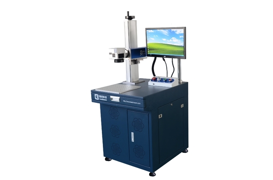 China IPG 30 W Fiber Laser Marking Machine For SS Brass / Auto Parts Laser Marking Equipment factory