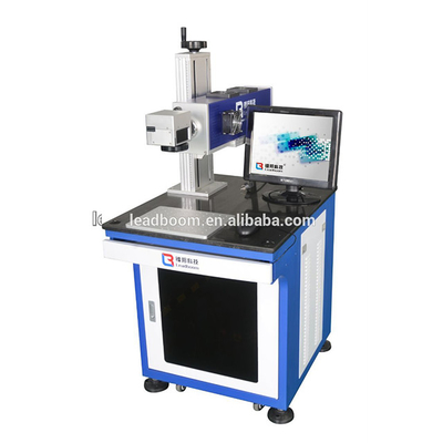 China 50KHz 10W Plastic CO2 Laser Marker Machine Online Flying Printing Cloth factory