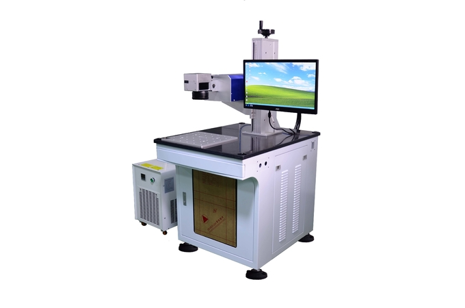 Small Focused Spot UV Laser Marking Machine , Laser Engraver Machine 355nm Wavelength
